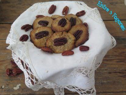 Cookies de Praliné con Nueces de Pecán