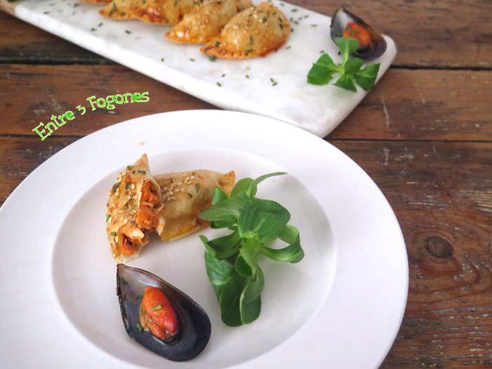 Empanadillas de Mejillones con Échalote
