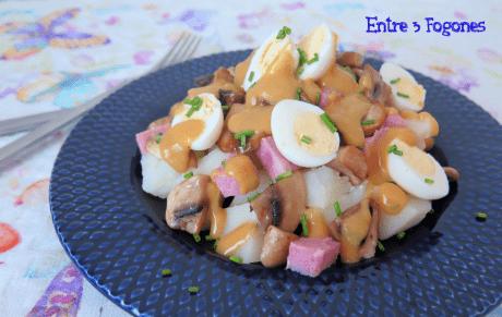 Ensalada de Patatas con Ketchup de Mango