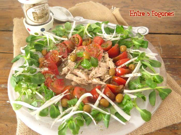 Ensalada de Perdiz en Escabeche y Tomate Raf