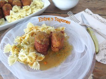 Pasta Farfalle con Scotch Eggs