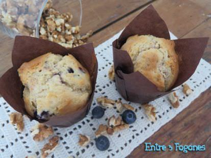 Muffins de Nueces y Arándanos
