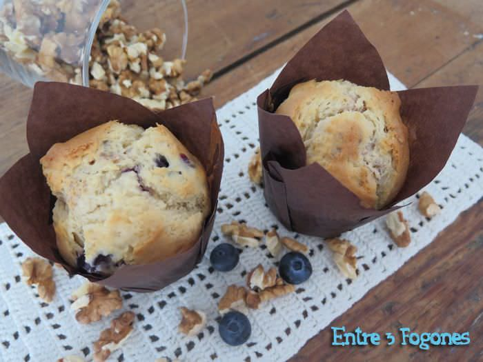 Photo of Muffins de Nueces y Arándanos