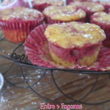 Muffins Marmolados de Manzana y Fresas