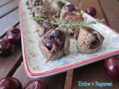 Rollitos de Cereza con Magret de Pato