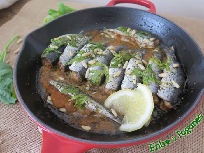 Photo of Sardinas al Horno Rellenas de Verdura