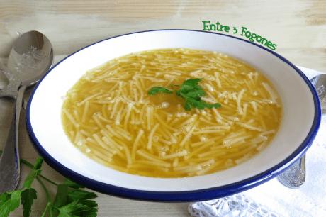 Sopa de Fideos con Caldo de Cocido Madrileño