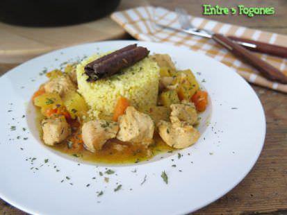 Tajine de Pollo con Piña y Batata