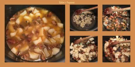 Pasos Caldo de Patatas con Níscalos