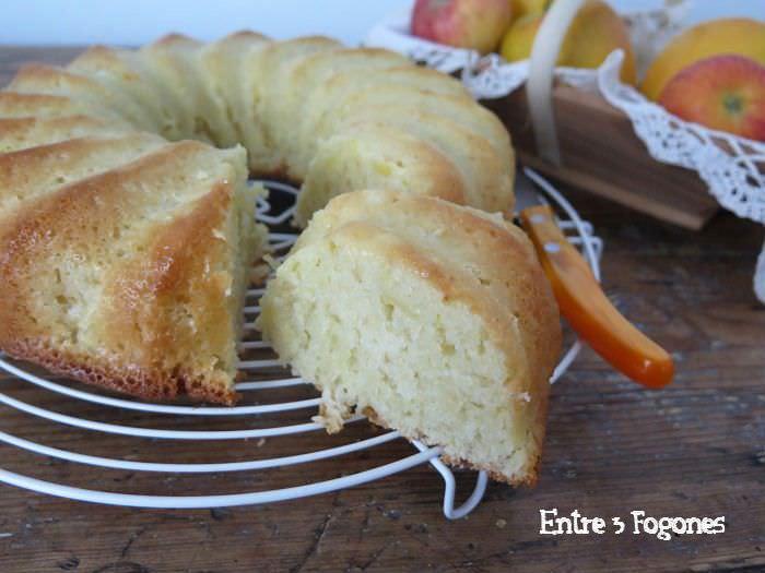 Receta Pasos Bizcocho de Manzana sin Huevo