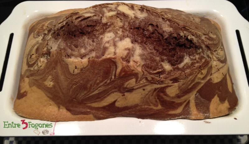Receta Bizcocho Marmolado con Chocolate