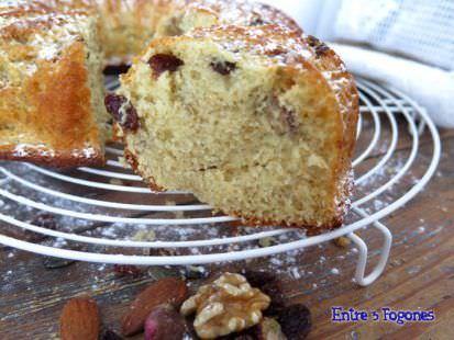 Receta Bundt Cake De Plátano y Frutos Secos
