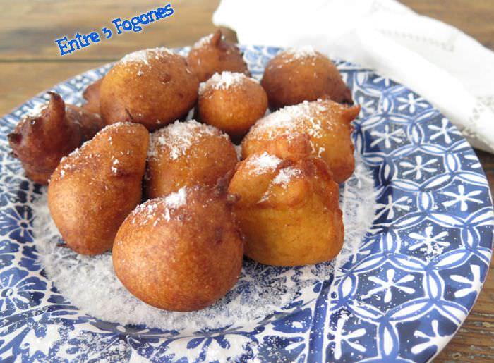 Receta Buñuelos de Plátano y Coco