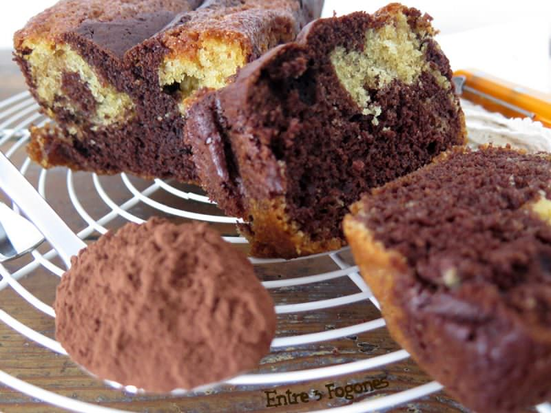 Receta Cake Marmolado de Chocolate y Vainilla