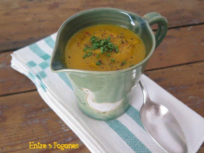 Receta Crema de Potimarron y Patata Dulce a las hierbas de provenza