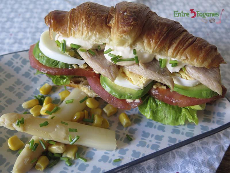 Receta Croissant con Vegetales y Ventresca de Atún