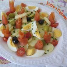 Receta de Patatas y Salmón