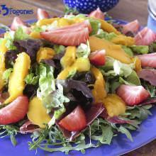 Receta Ensalada de Mango y Fresas con Rúcula y Jamón Serrano