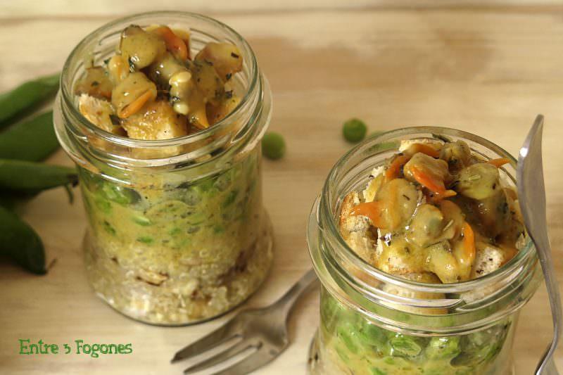 Receta Ensalada de Quinoa con Guisantes y Berberechos Marinados