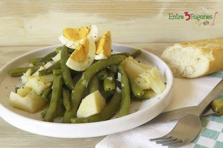 Receta Ensalada de Judías Verdes con Patata y Huevo Cocido