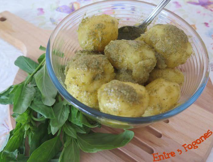 Receta Ensalada de Patatas con Aliño de Anchoas