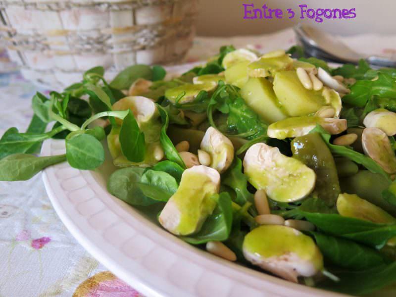 Ensalada de Judías Verdes y Patatas con Aliño de Albahaca