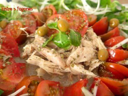 Receta Ensalada Perdiz en Escabeche con Tomate Raf