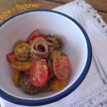 Receta Ensalada de Tomates Cherry