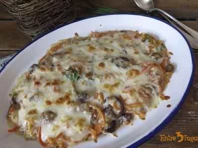 Receta Pasos Espaguetis de Calabaza con Bechamel