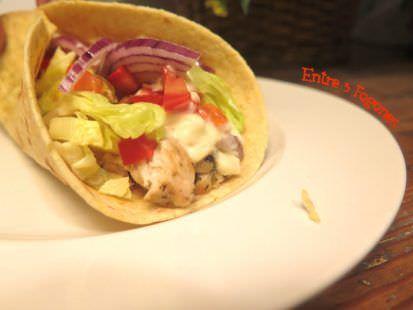 Receta Fajitas con Pollo y Vegetales