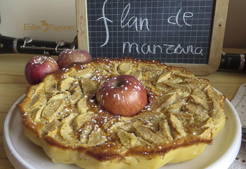 Receta Flan de Manzanas