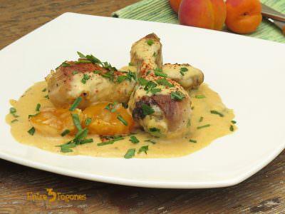Receta Jamoncitos de Pollo en Salsa de Albaricoques