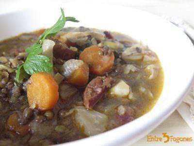Receta Lentejas Estofadas con Verduras y Chorizo Ibérico