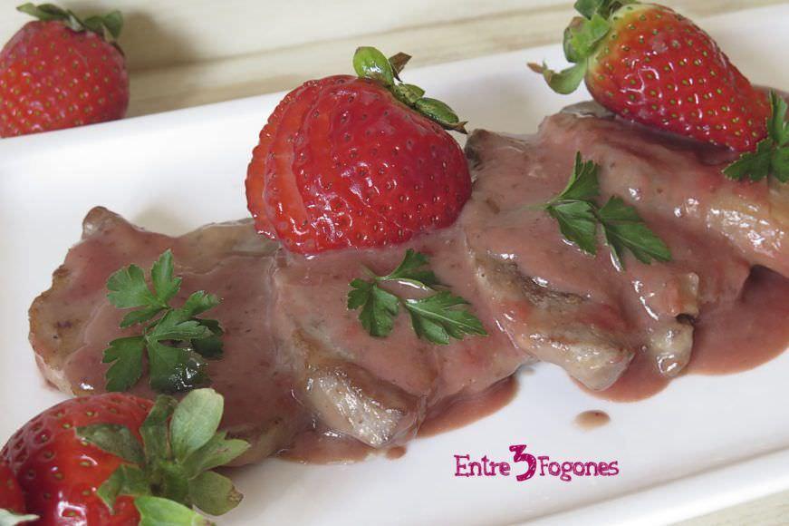 Receta Lomo de Cerdo en Salsa de Fresas