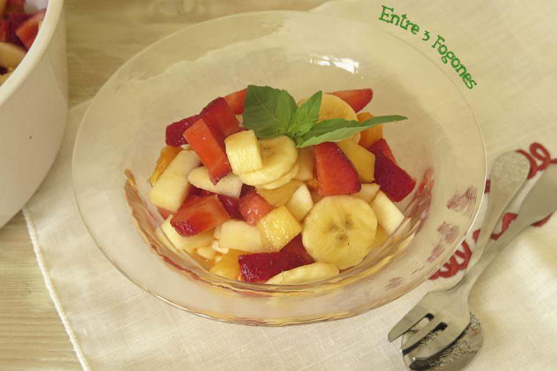 Receta Macedonia de Frutas Naturales sin Azúcar con Sirope de Ágave