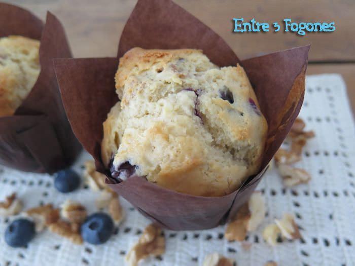 Receta Muffins de Nueces y Arándanos