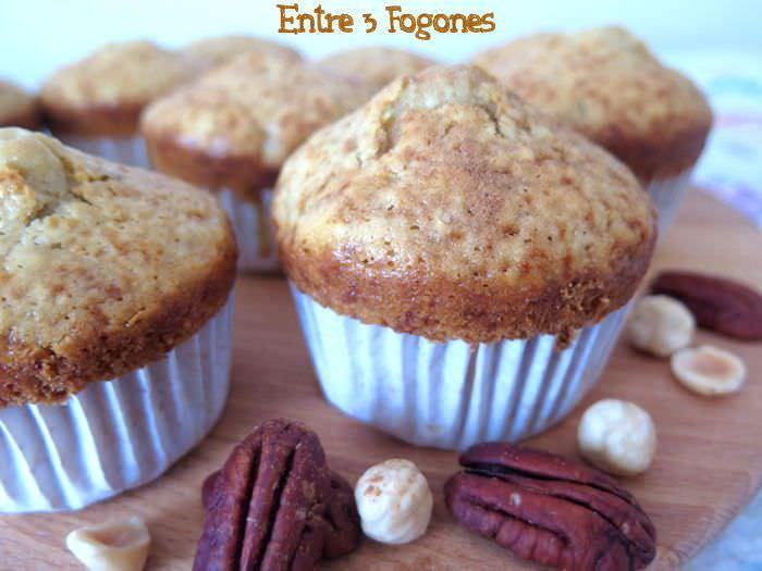 Muffins de Avellanas y Nueces de Pecán