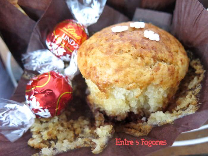 Receta Muffins con Corazón de Bombón Lindt