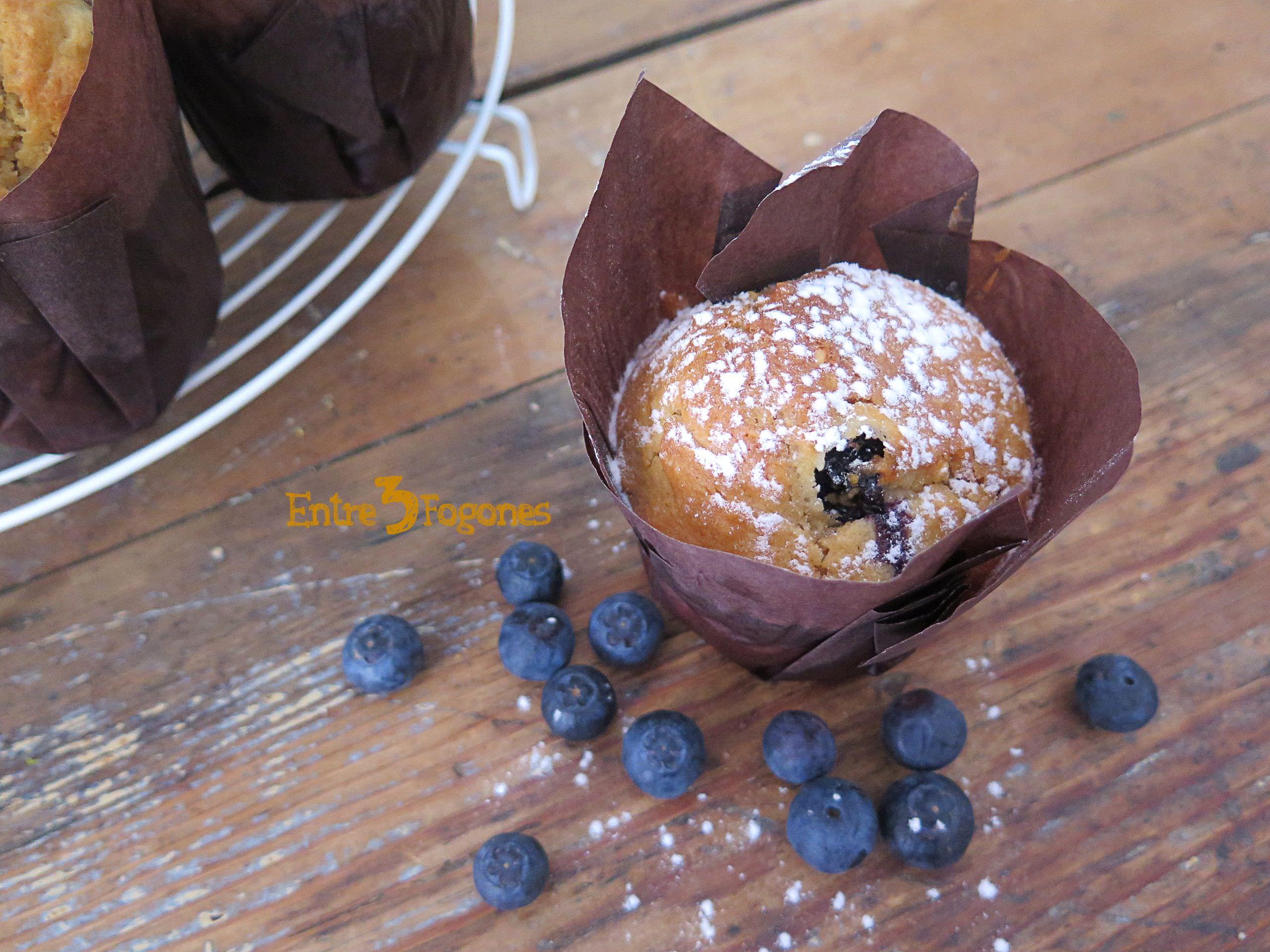 Receta Muffins de Arándanos y Avellanas