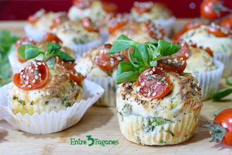 Receta Muffins Salados de Espinacas y Tomate Cherry