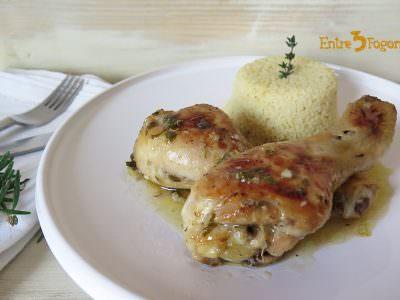 Receta Muslos de Pollo al Horno con Limón y Hierbas Aromáticas