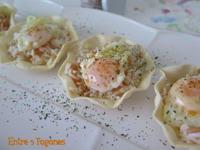 Receta Obleas Rellenas de Nigiri de Salmón con Huevo de Codorniz