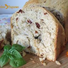 Receta Pan de Tomates Secos Marinados con y sin Panificadora