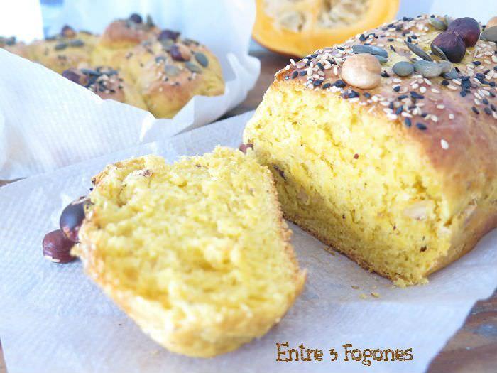 Receta Pan de Potimarron y Avellanas