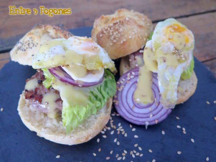Receta Hamburguesas con pan casero