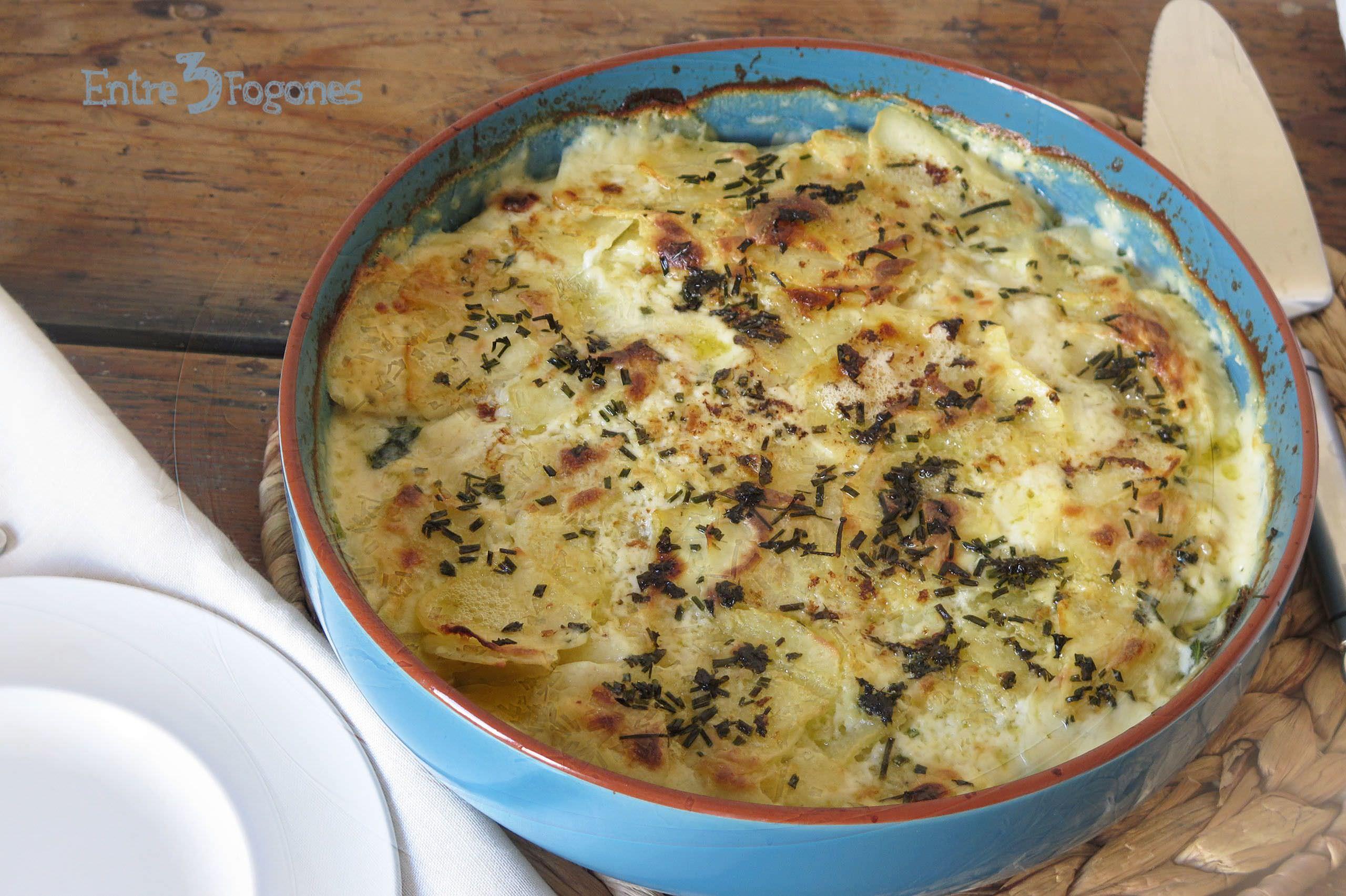 Receta Pastel de Patatas con Espinacas y Salmón