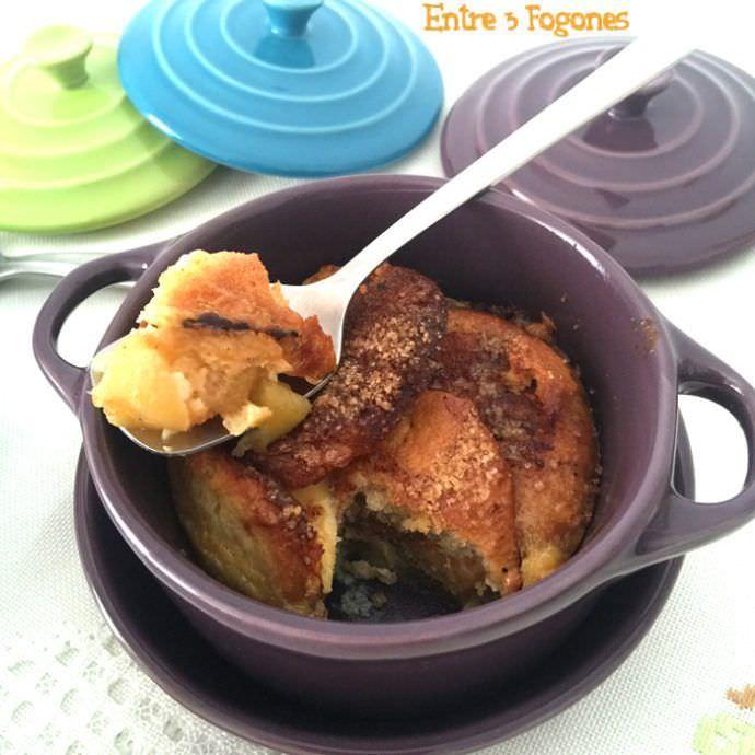 Receta Pudding de Manzana y Brioche