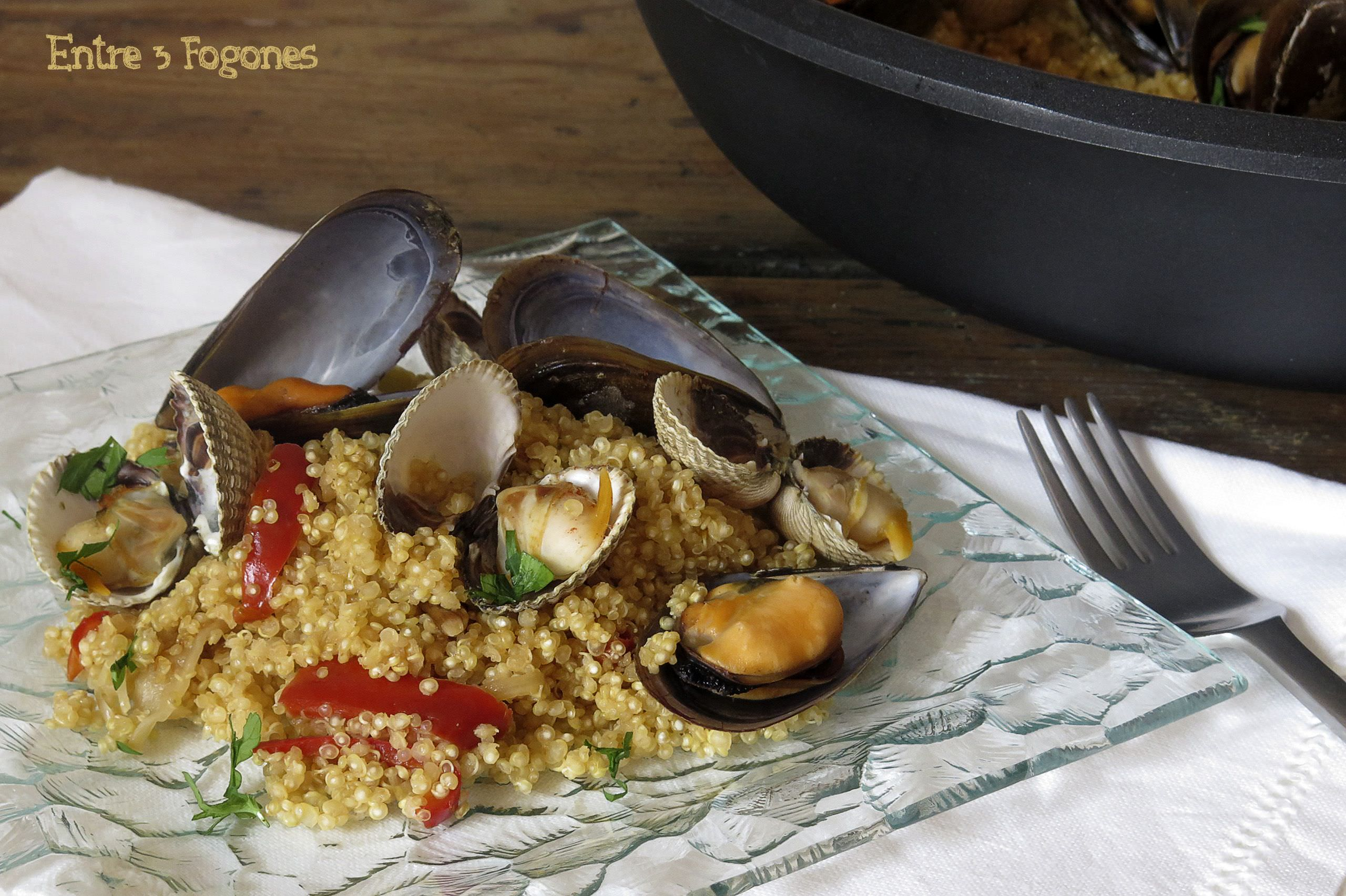 Photo of Risotto de Quinoa con Berberechos y Mejillones