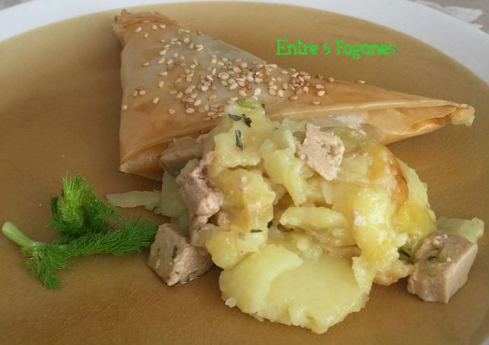 Receta Samosas Rellenas de Carne y Foie