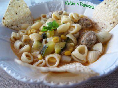 Receta Sopa de Albóndigas